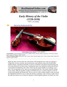 Early History of the Violin (1520-1650)