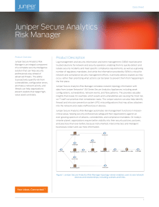 Juniper Secure Analytics Risk Manager