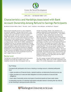 Characteristics and Hardships Associated with Bank Account