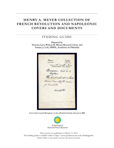 French Revloution and Napoleonic Finding Guide