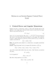Motion in an Inverse-Square Central Force Field
