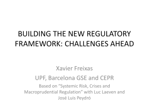 building the new regulatory framework: challenges ahead