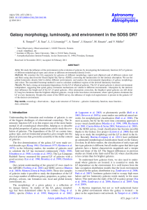 Galaxy morphology, luminosity, and environment in the SDSS DR7
