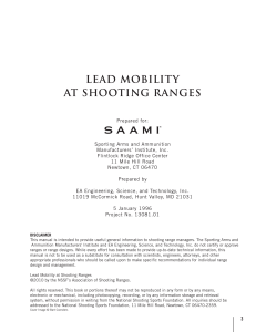 Lead Mobility - Sporting Arms and Ammunition Manufacturers` Institute