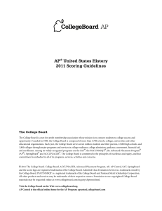 AP® United States History 2011 Scoring Guidelines