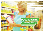 Food labelling for healthy eating