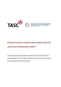Comparing the financial crises in Iceland and Ireland: an outline of