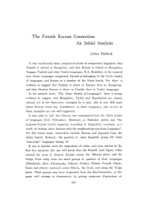 The Finnish Korean Connection: An Initial Analysis - S