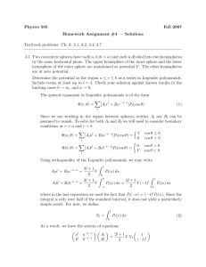 Physics 505 Fall 2007 Homework Assignment #4 — Solutions