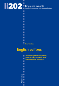 English suffixes: Stress-assignment properties, productivity