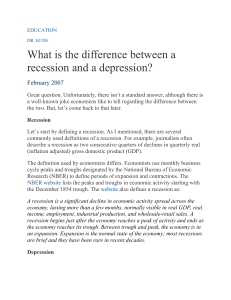 What is the difference between a recession and a depression?
