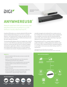 AnywhereUSB datasheet