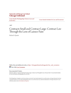 Contract Law Through the Lens of Laissez-Faire