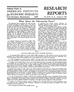 Research Reports - 1980, No. 43 - American Institute for Economic