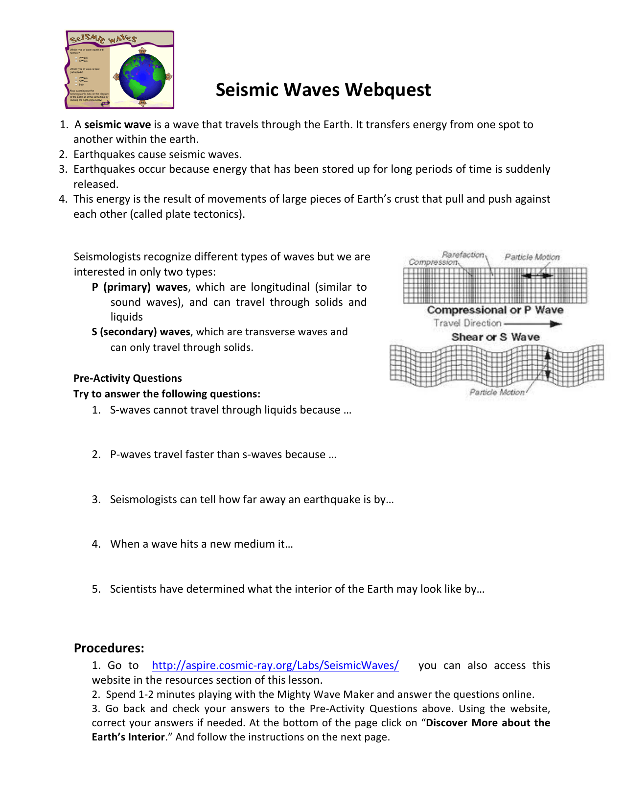 Worksheet Wave Properties And Math Answer Key