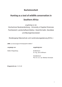 Bachelorarbeit Hunting as a tool of wildlife conservation in Southern