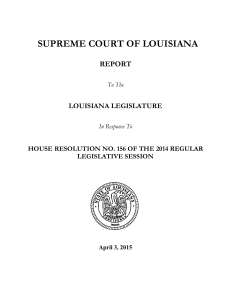 supreme court of louisiana - The Louisiana Supreme Court