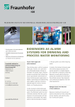 Biosensors as alarm systems for drinking and