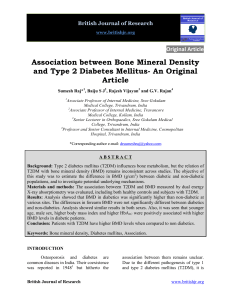 Association between Bone Mineral Density and Type 2 Diabetes