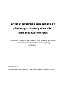 Effect of isochronic tone tempos on physiologic recovery rates after