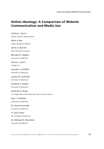 Online Ideology: A Comparison of Website Communication and