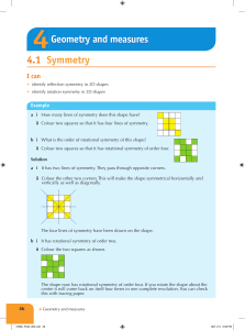 4.1 Symmetry Geometry and measures