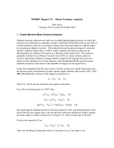 WHIRC Report VI: Mean-variance Analysis (October 2010)