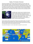 Reading: The Formation of Hurricanes