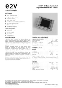 CCD77-00 Back Illuminated High Performance IMO Device