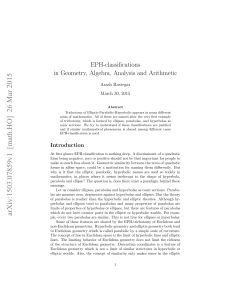 EPH-classifications in Geometry, Algebra, Analysis and Arithmetic