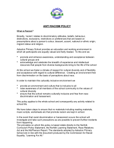 Anti Racism Policy - Aslacton Primary School