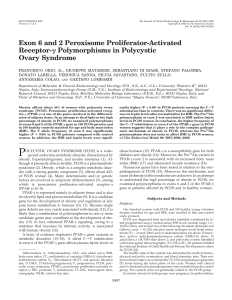 Exon 6 and 2 Peroxisome Proliferator