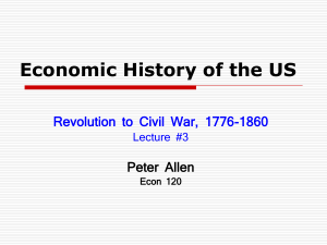 Economic History of the US