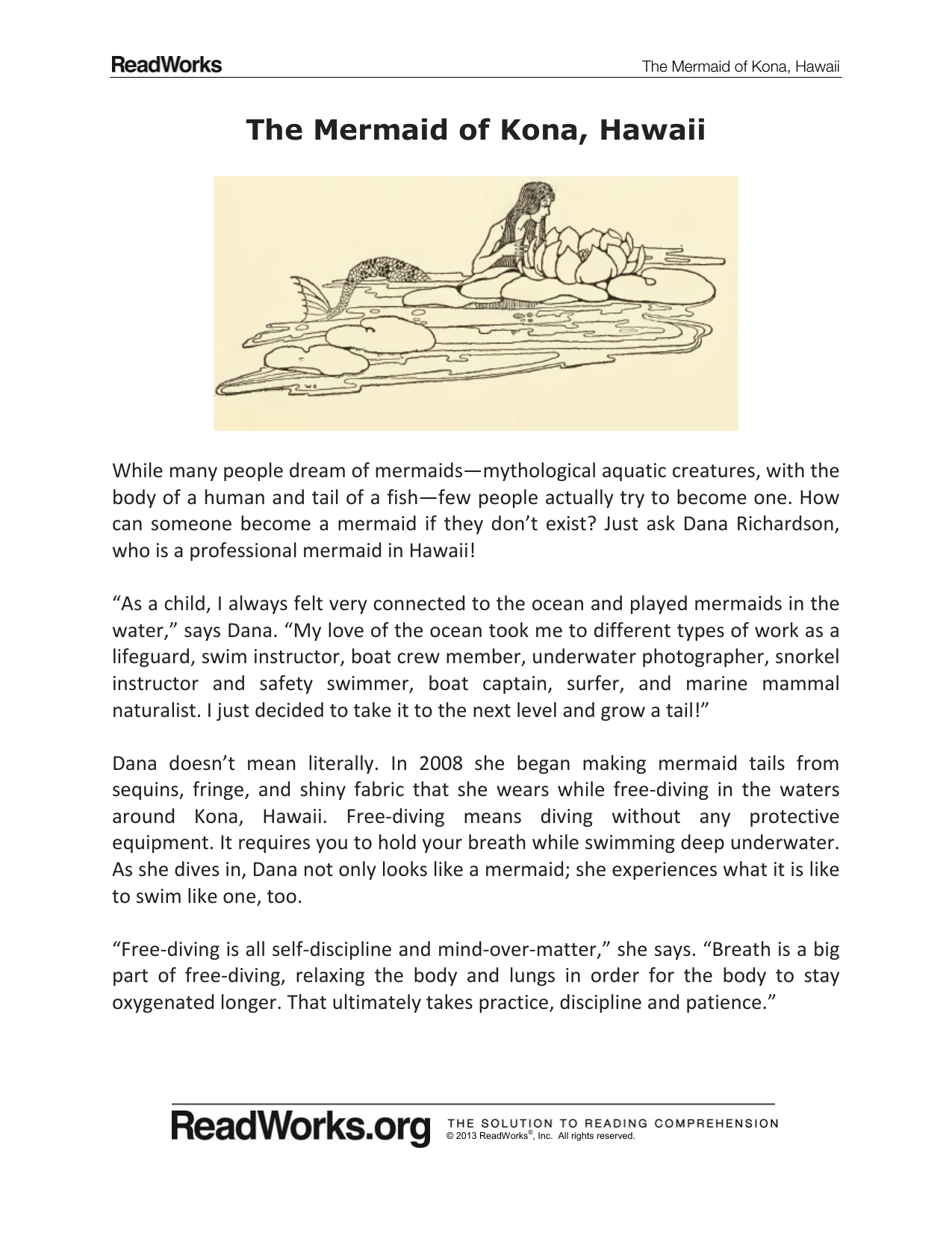 ... Array - the mermaid of kona hawaii americana intermediate school rh  studyres ...