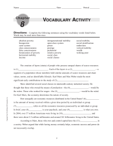 VOCABULARY ACTIVITY