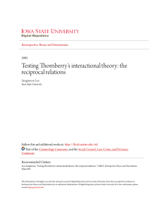 Testing Thornberry`s interactional theory: the reciprocal relations