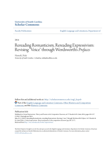 "Rereading Romanticism, Rereading Expressivism: Revising ""Voice"