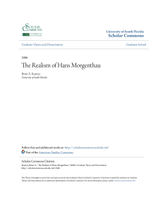 The Realism of Hans Morgenthau - Scholar Commons