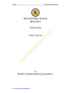 SECONDARY STAGE BIOLOGY Sindh Textbook