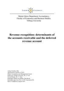 Revenue recognition: determinants of the accounts receivable and