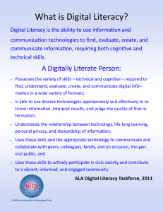 What is Digital Literacy?