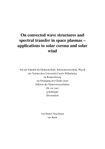 On convected wave structures and spectral transfer in space