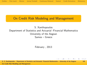 On Credit Risk Modeling and Management