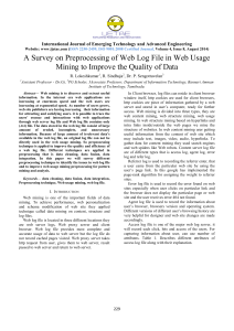 A Survey on Preprocessing of Web Log File in Web Usage Mining to