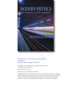 Modern Physics for Science and Engineering (eval).