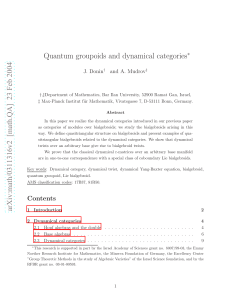 [math.QA] 23 Feb 2004 Quantum groupoids and