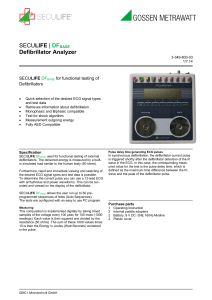 SECULIFE | DFBASE Defibrillator Analyzer