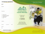 BACK PAIN - Foothills Physical Therapy Center