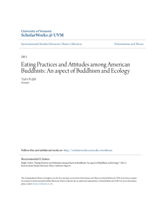 Eating Practices and Attitudes among American Buddhists: An