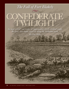 Confederate Twilight: The Fall of Fort Blakely